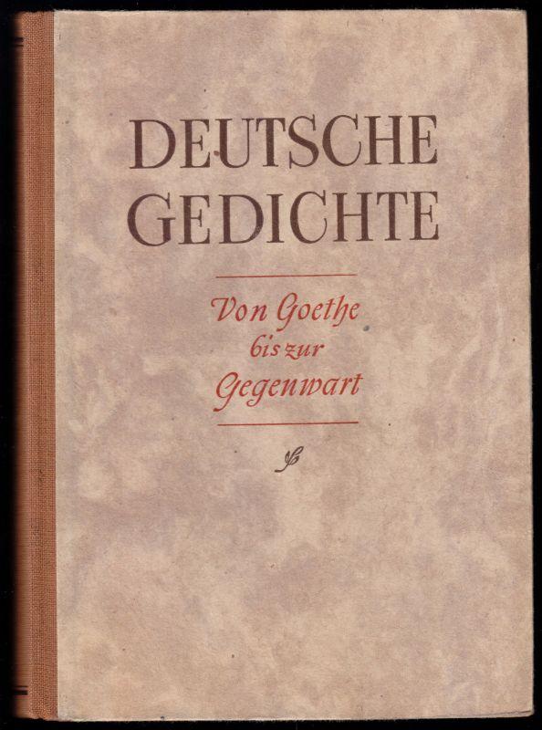 Deutsche Gedichte - Von Goethe bis zur Gegenwart, Schulbuch, 1947
