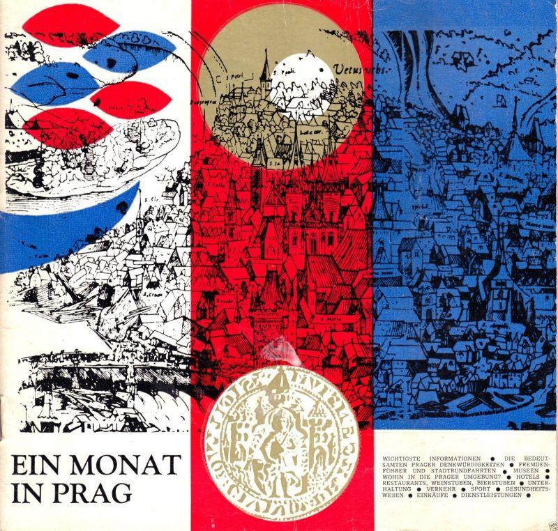 Tour. Broschüre, Ein Monat in Prag, Beilage: Innenstadtplan, 1972