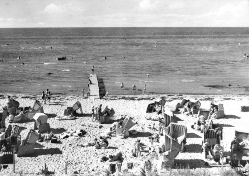 Ansichtskarte Insel Poel Strand Am Schwarzen Busch Belebt 1971