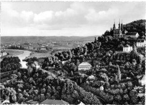 Ansichtskarte, Würzburg, Käppele mit Blick ins Maintal, 1958