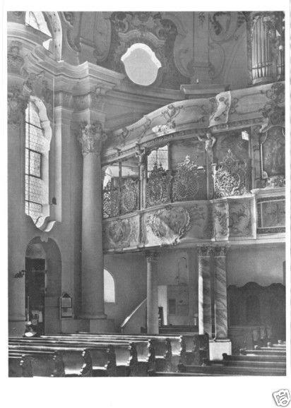 Ansichtskarte, Günzburg a. D., Orgelempore i.d. Frauenkirche, 1962
