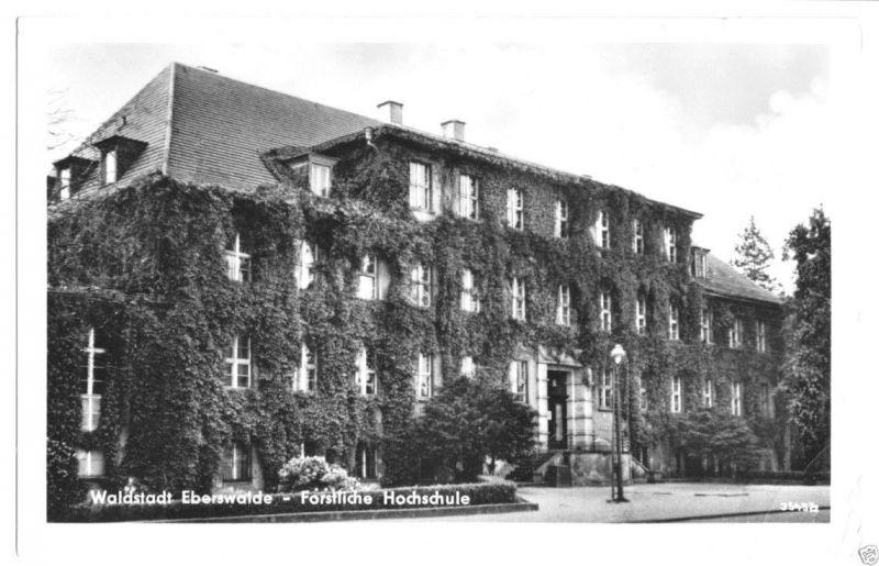 Ansichtskarte, Eberswalde, Forstliche Hochschule, 1957