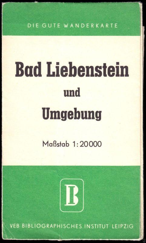 Wanderkarte, Bad Liebenstein und Umgebung, um 1958