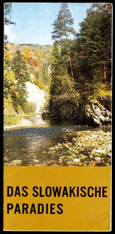 Tour. Prospekt, Das Slowakische Paradies, um 1988