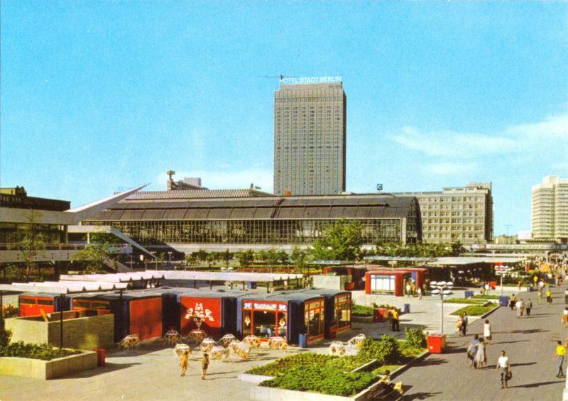 Ansichtskarte, Berlin Mitte, Alexanderplatz, Rathausstr., Verkaufskioske, 1977