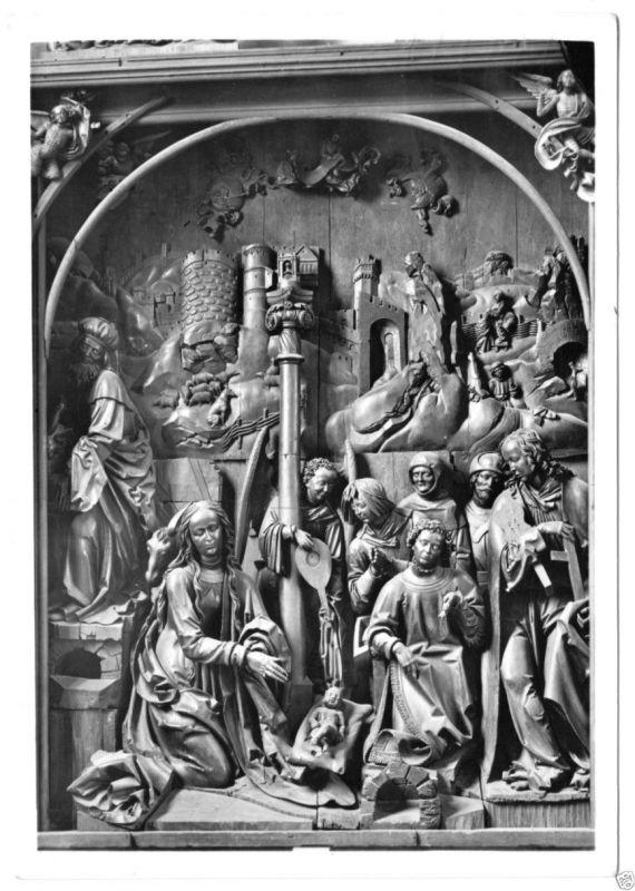 Ansichtskarte, Bamberg, Dom, Altar von Veit Stoss, Mittelteil, 1955