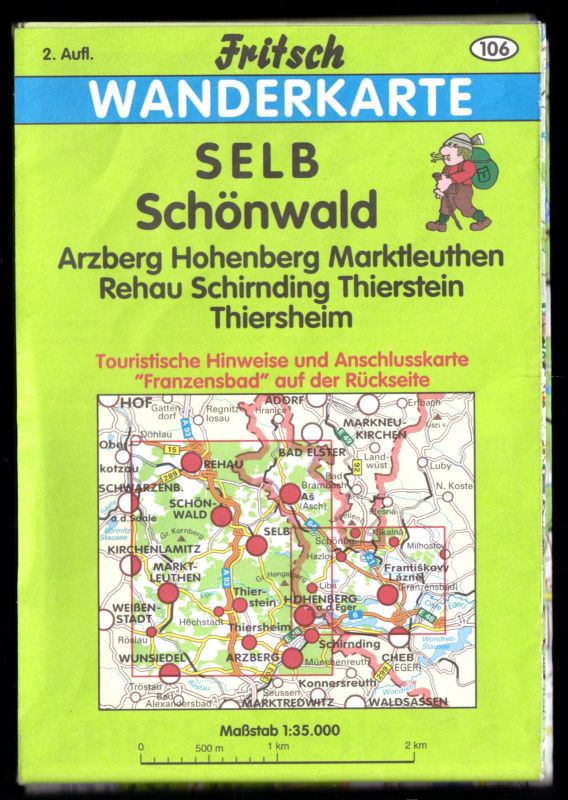 Wanderkarte, Selb - Schönwald - Franzensbad, um 1995