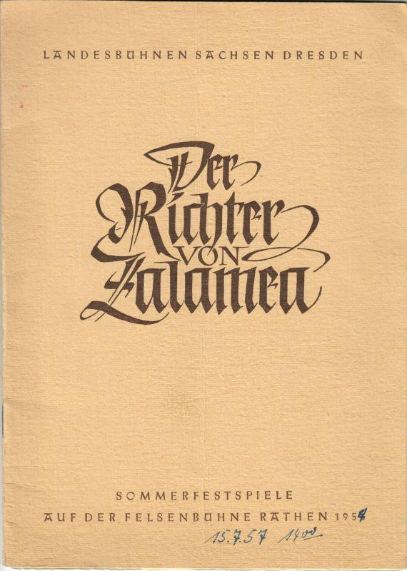 Theaterprogramm, Felsenbühne Rathen, Der Richter von Zalamea, 1956/57