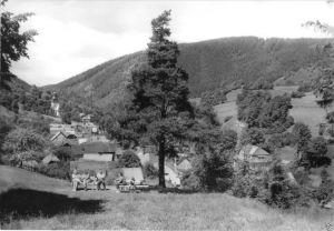 Ansichtskarte, Döschnitz Kr. Rudolstadt, Teilansicht, 1977