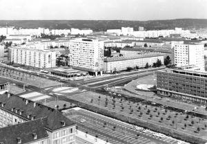 Ansichtskarte, Dresden, Blick vom Rathausturm nach Osten, 1976