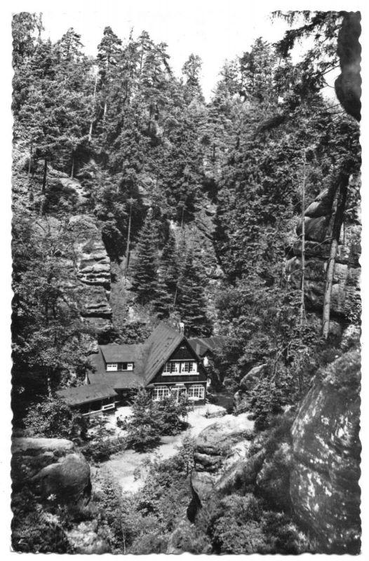 Ansichtskarte, Uttewalde Sächs. Schweiz, Uttewalder Grund,