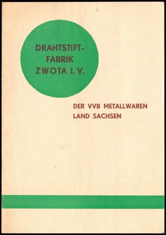 Werbeblatt, Fa. Drahtstiftfabrik Zwota i. V. für Nägel, Stfte, Nieten usw., 1950