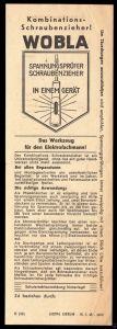 Werbeblatt, Fa. Elektrogeräte Blauert, Halle Saale für Spannungsprüfer
