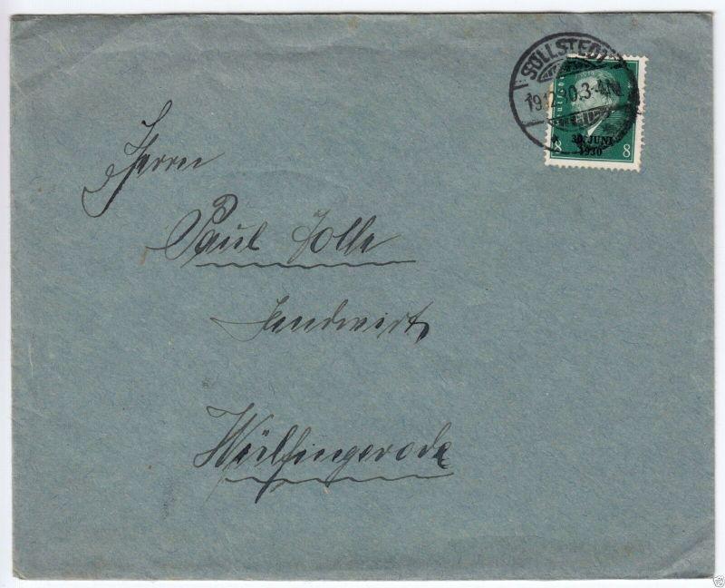 Bedarfsbrief, Mi.-Nr. DR 544 EF, o Sollstedt, 19.12.30 0