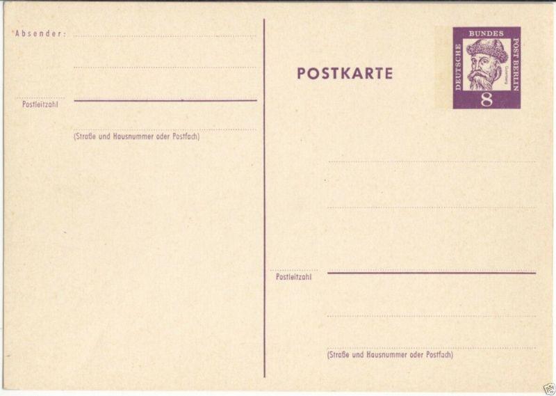 Ganzsache, Postkarte, Michel, Berlin P56, **