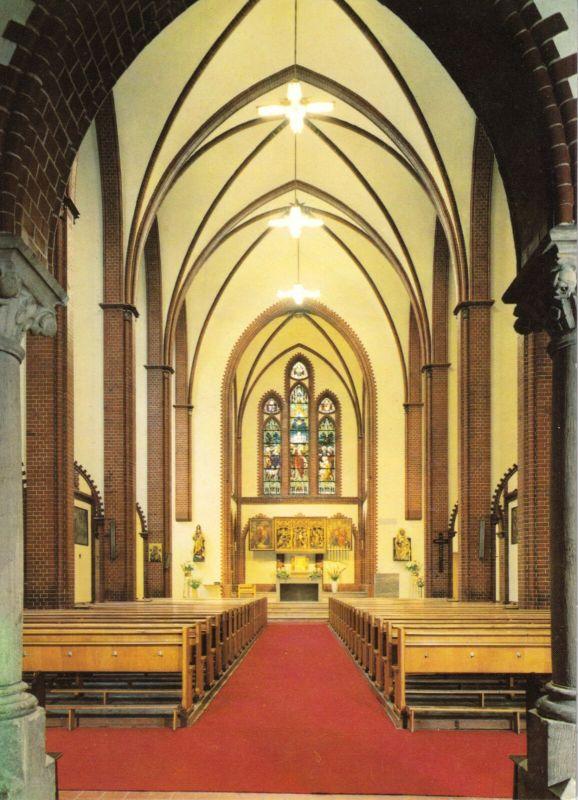 Ansichtskarte, Berlin Wedding, St. Petrus-Kirche, Bellermannstr. 92, Innenansicht, um 1980