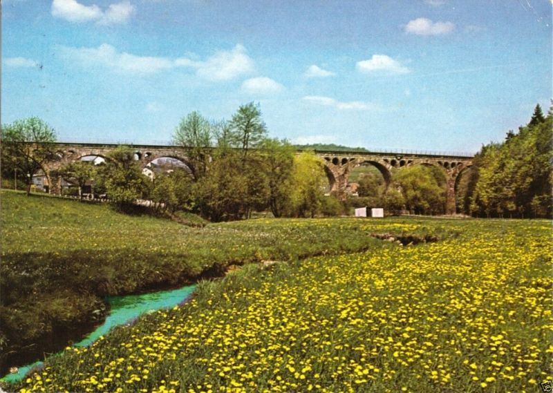 Ansichtskarte, Bad Endbach, Viadukt, 1980