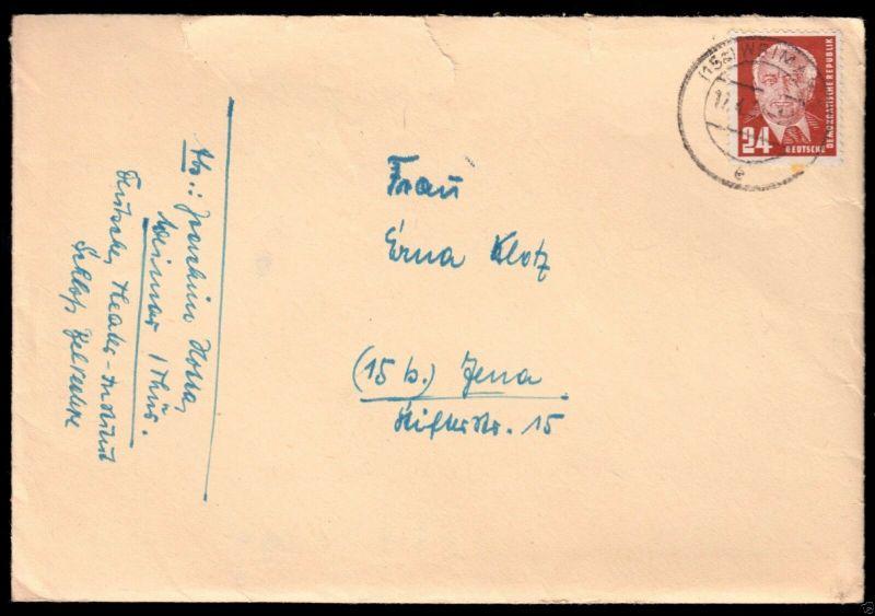 Bedarfsbrief, Mi.-Nr DDR 252 EF, o (15a) Weimar 1, 17.4.51