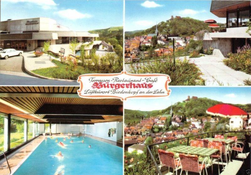Ansichtskarte, Biedenkopf a.d. Lahn, Terrassen-Restaurant