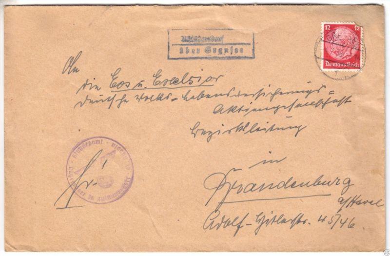 Landpoststempel, Poststelle II, Altlüdersdorf über Gransee, Gransee, 4.7.38