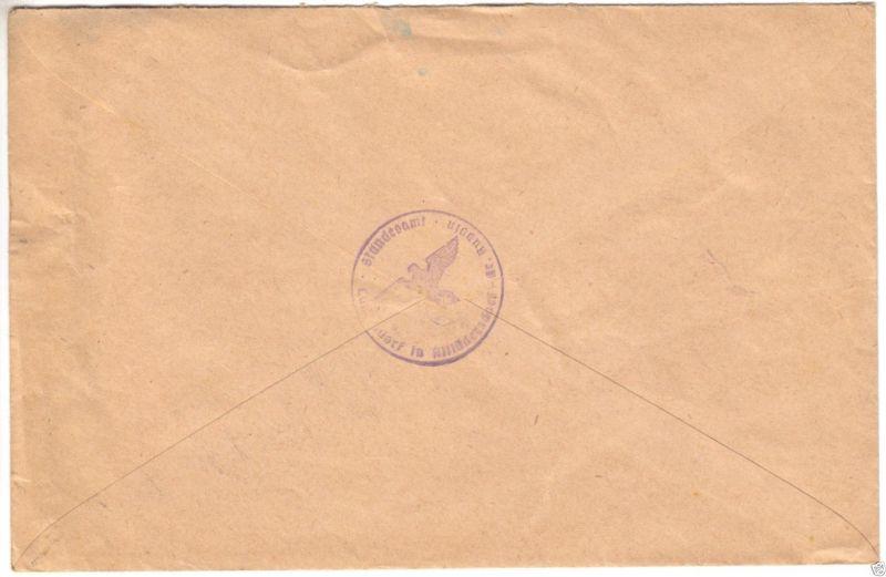 Landpoststempel, Poststelle II, Altlüdersdorf über Gransee, Gransee, 4.7.38 1