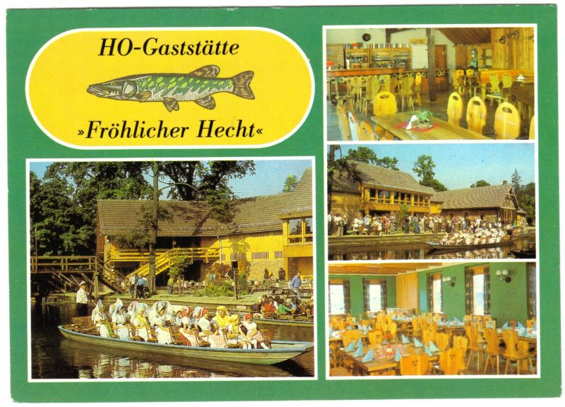 Ansichtskarte, Lübbenau OT Lehde, HO-Gaststätte