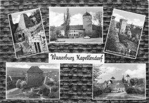 Ansichtskarte, Kapellendorf, Wasserburg Kapellendorf, fünf Abb., gestaltet, 1964