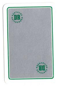 Kalender Scheckkartenformat, 1992, Werbung: Deutsche Reichsbahn