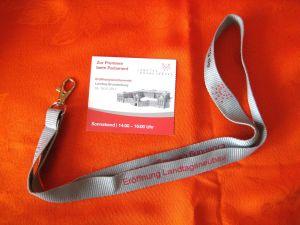 Potsdam, Eröffnung Landtagsneubau 2014, Eintittskarte und Schlüsselband