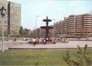 Ansichtskarte, Berlin Mitte, Partie am Spittelmarkt mit Brunnen, 1986