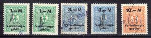 Fünf Verwaltunggebühr - Marken der DDR, 1980er