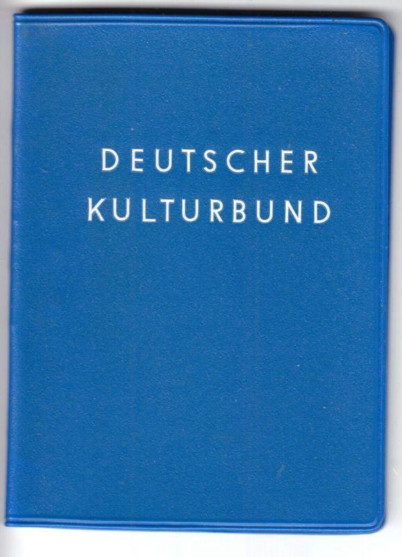 Deutscher Kulturbund, Mitgliedsausweis mit Beitragsmarken 1972 - 1974