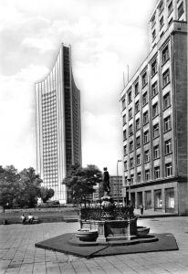 Ansichtskarte, Leipzig, Mägdebrunnen und Universitätsgebäude, 1978
