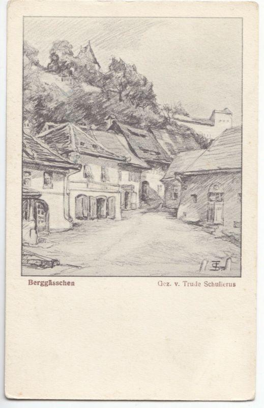 Ansichtskarte, Rumänien, Siebenbürgen, Schässburg, Sighisoara, Berggässchen, um 1930