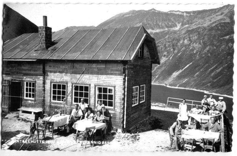 Ansichtskarte, Badgastein Salzbg., Pochartseehütte bei Badgastein, belebt, 1962
