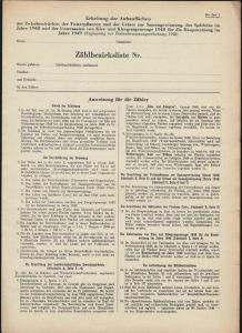 Liste zur Erhebung von landwirtschaftlichen Anbauflächen in der SBZ 1948/49