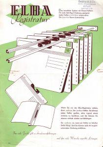Werbeblatt für ELBA-Registratur, Fa. Gebhardt & Co., Büro - Organisation, Erfurt