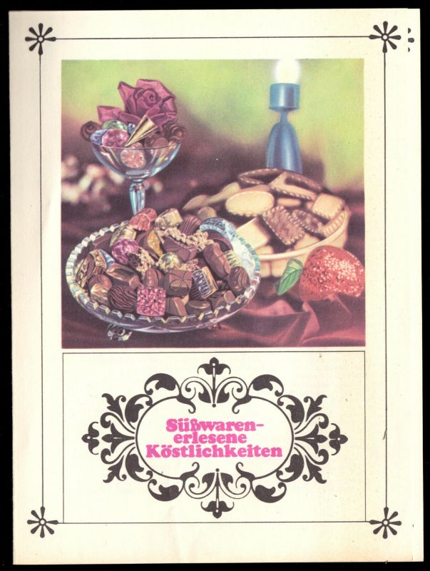 Werbeblatt der Süßwarenbetriebe der DDR, 1969