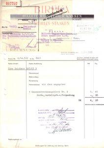 Rechnung, Fa. Bireka Ernst Tansfeldt KG, Berlin - Staaken, 7.12.40