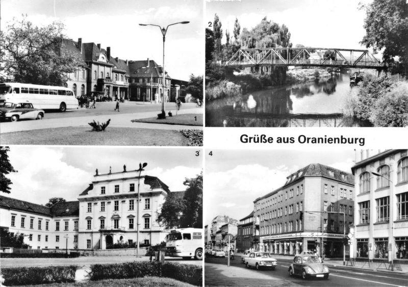 Ansichtskarte, Oranienburg, vier Abb., 1980