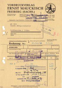 Rechnung, Vordruckverlag Ernst Maukisch, Freiberg (Sachs.), 4.4.1944