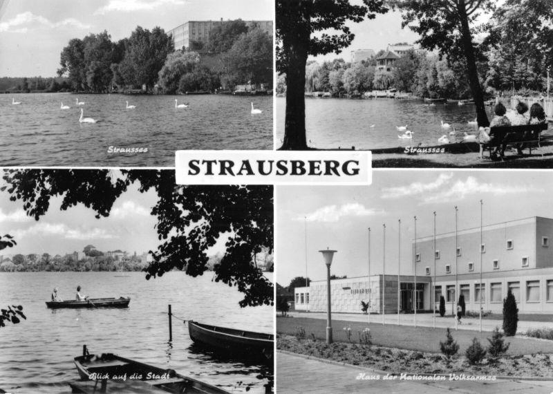 Ansichtskarte, Strausberg bei Berlin, vier Abb., 1973