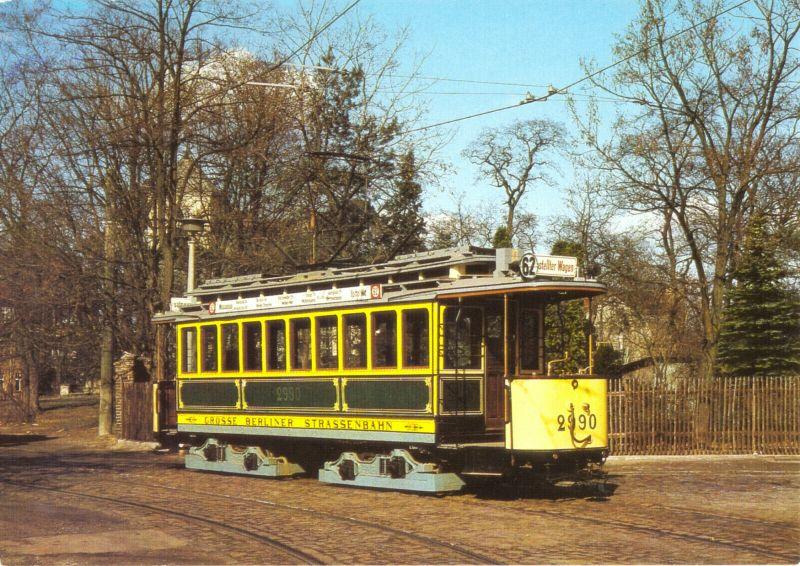 Ansichtskarte, Berlin, Triebwagen 2990, Baujahr 1910, 1987