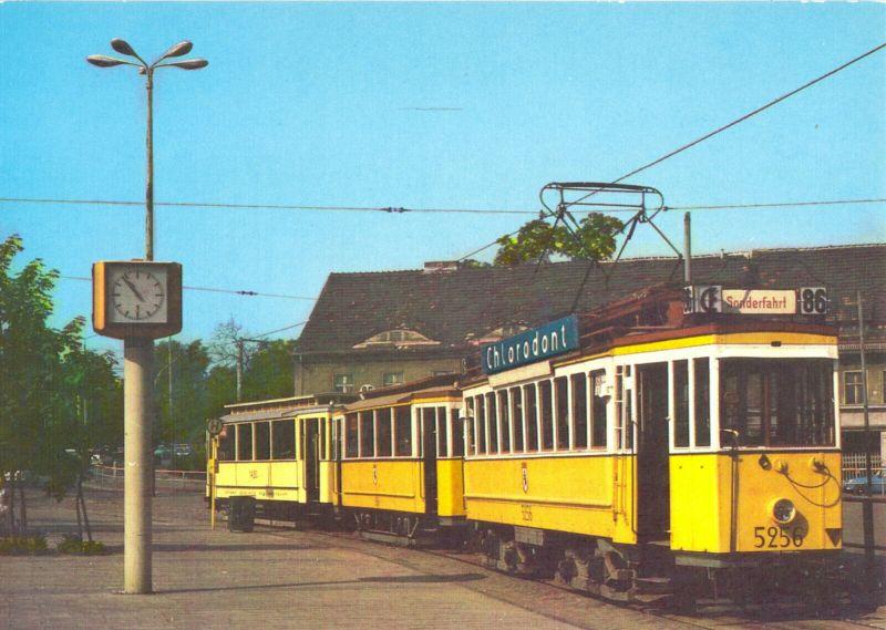Ansichtskarte, Berlin, Triebwagen 5256 der BVG, Baujahr 1912, 1987