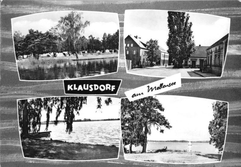 Ansichtskarte, Klausdorf am Mellensee, Kr Zossen, vier Abb., 1969