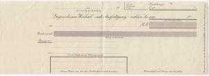 Formular für einen Bank-Wechsel, blanko, vor 1945