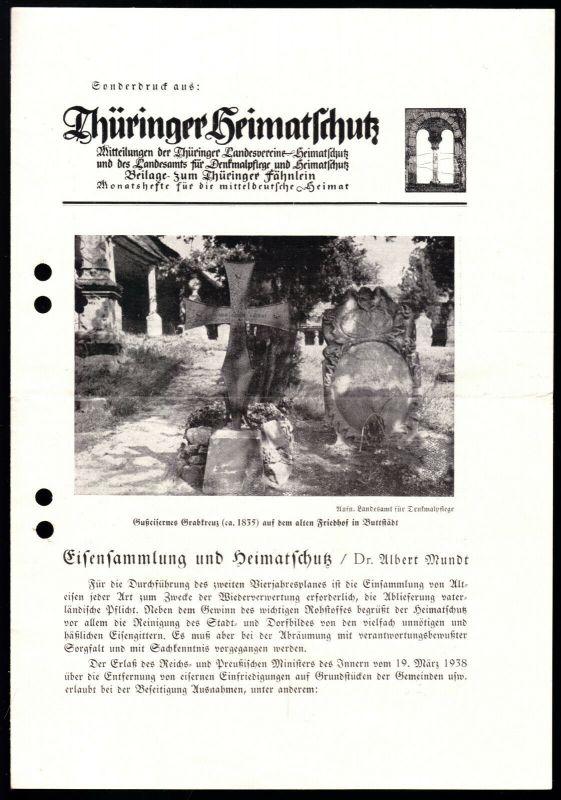 Sonderdruck, Thüringer Heimatschutz,