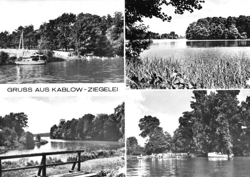Ansichtskarte, Kablow Ziegelei, Kr. Königs Wusterhausen, vier Abb., 1980