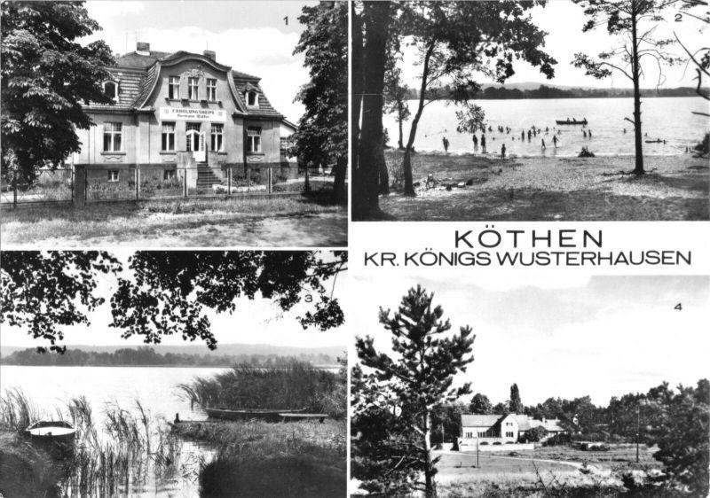 Ansichtskarte, Köthen Kr. Königs Wusterhausen, vier Abb., 1982