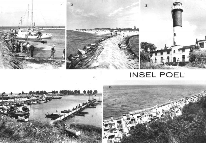 Ansichtskarte, Insel Poel, fünf Abb., 1989